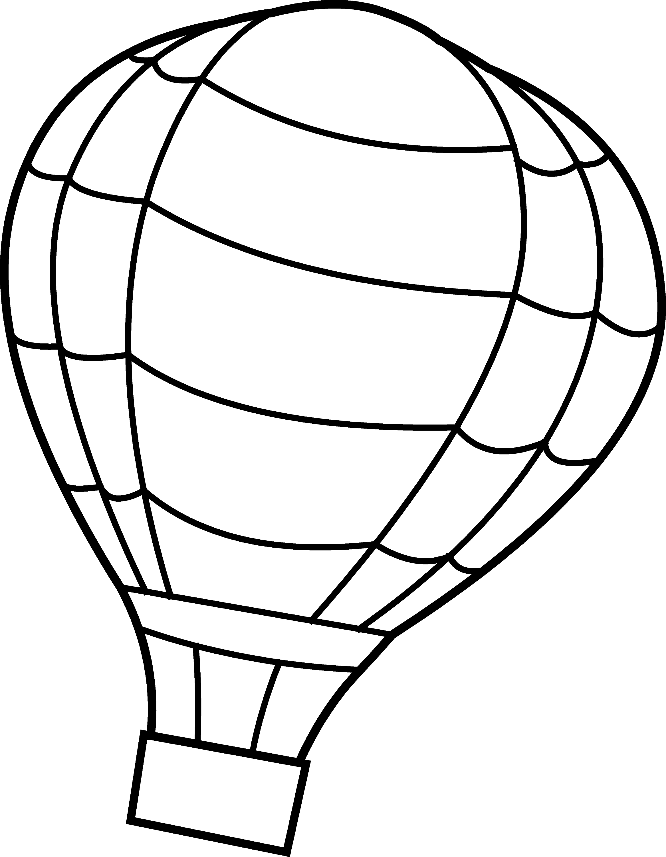 Hot Air Balloon Coloring Page - Free Clip Art