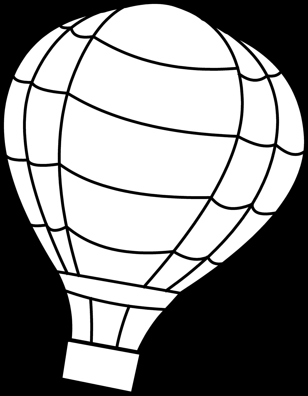 Hot Air Balloon Coloring Page - Free Clip Art