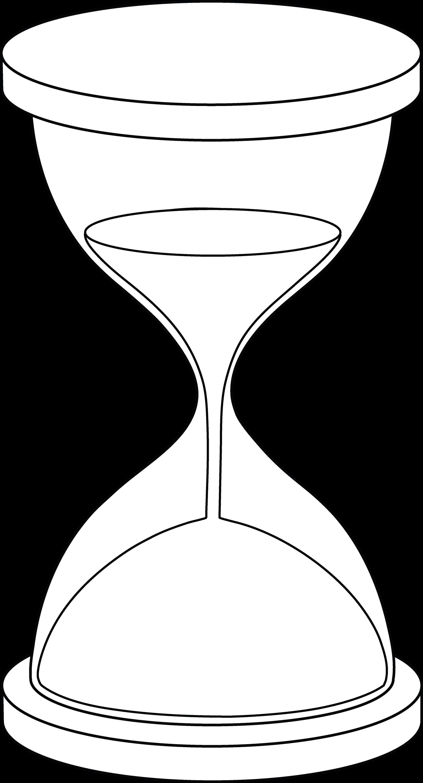 Hourglass Line Art - Free Clip Art