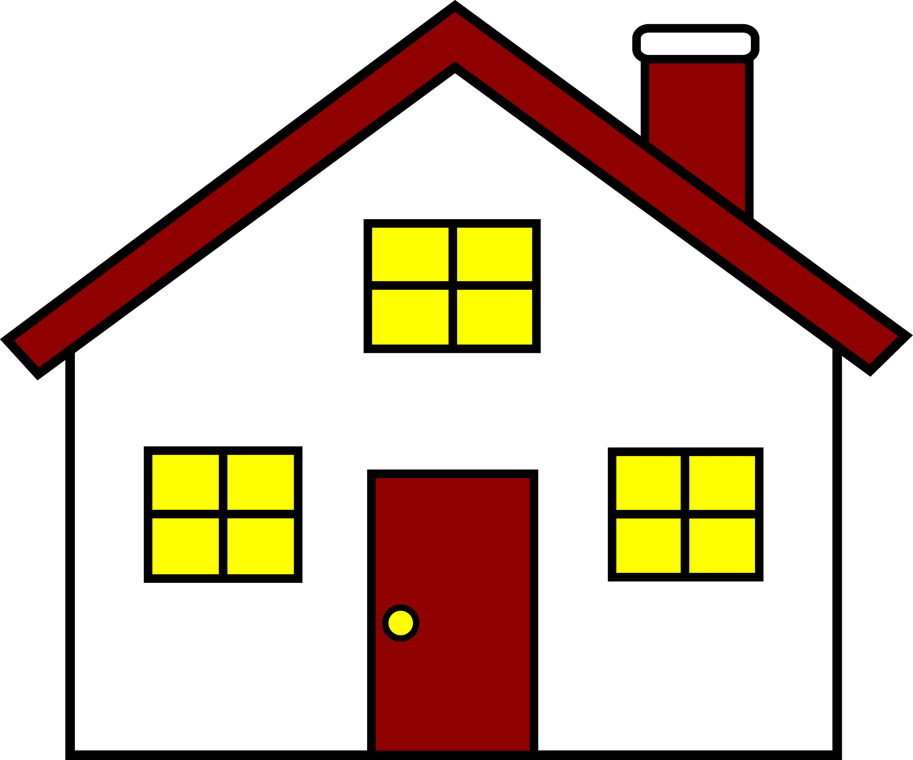 Charming red and white house free clip art Hause on line