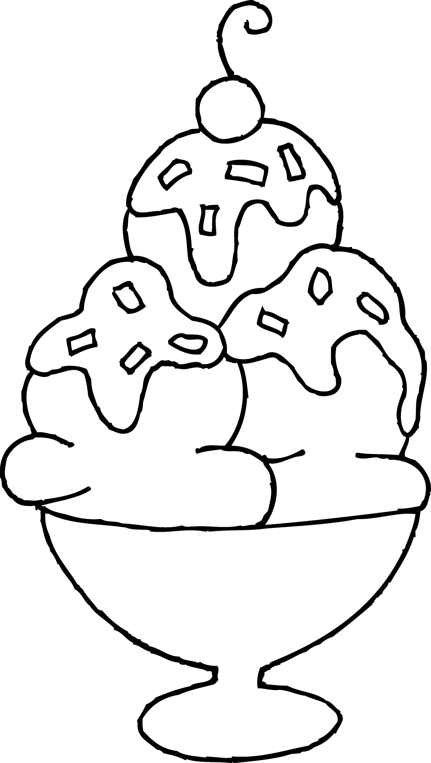ice cream sundae coloring page free clip art