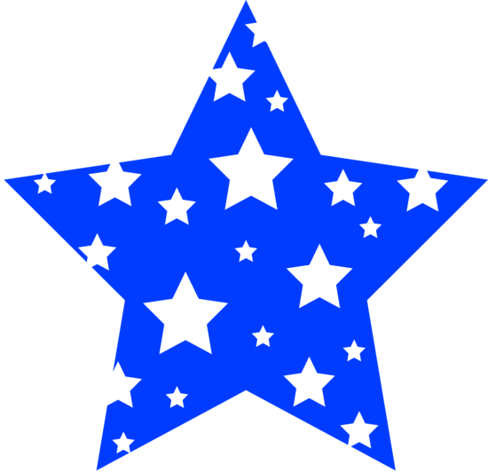 Blue Star Patterned With White Stars