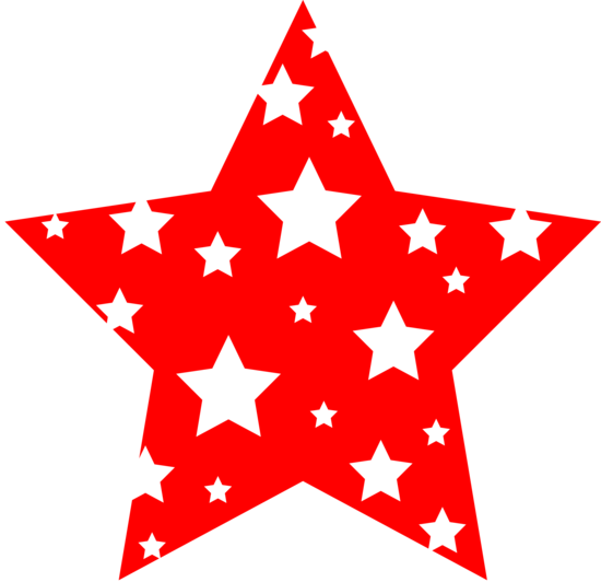 Red and White Patterned Star