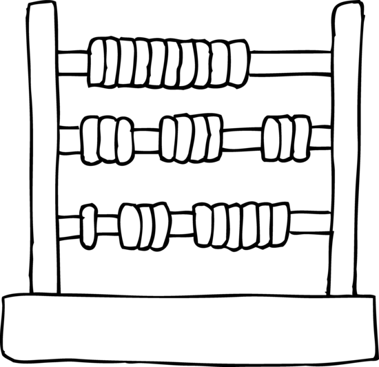 Kids Toy Abacus Coloring Page