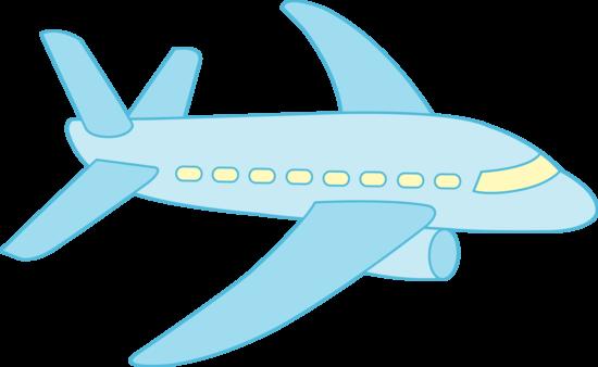Little Blue Airplane - Free Clip Art