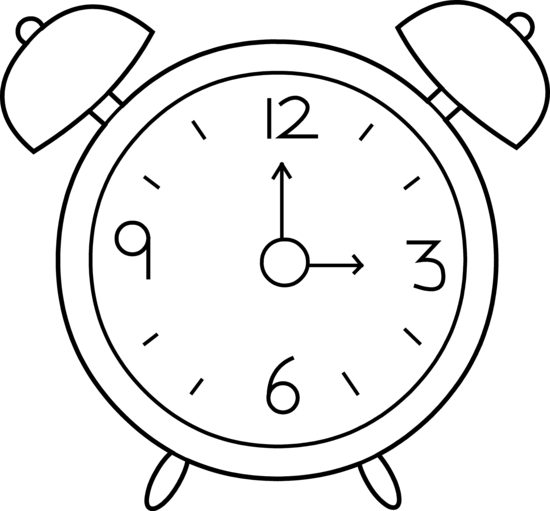 Line Drawing Of Clock Face : Alarm clock line art free clip