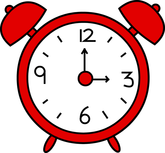 Red Alarm Clock Design - Free Clip Art