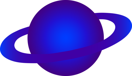 Bright Blue Ringed Alien Planet