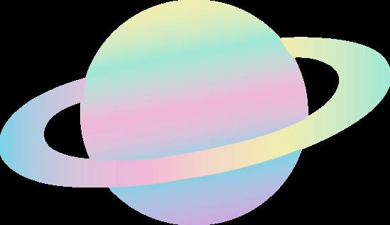 Alien Planet in Pastel Colors
