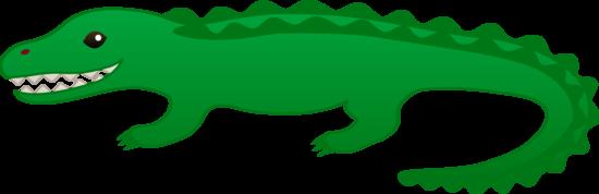 Cute Green Alligator Clip Art