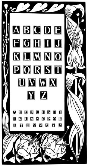 Black and White Vintage Alphabet