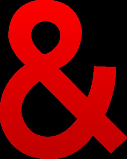 Red Ampersand Symbol