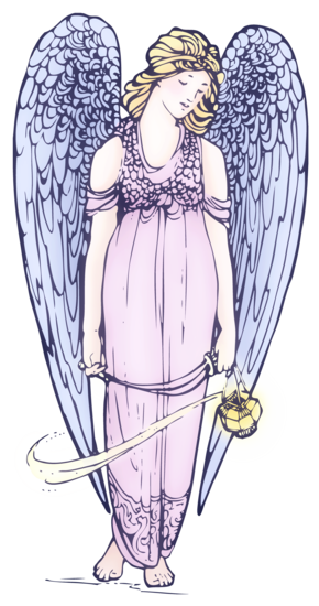 Lovely Angel Vintage Clip Art