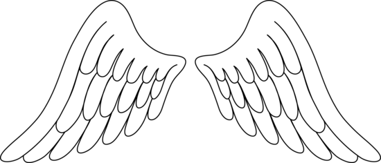 White Angel Wings Clip Art