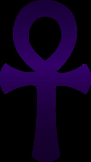 Violet Egyptian Ankh Symbol