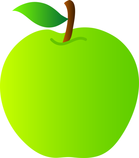 Healthy Green Apple Clipart