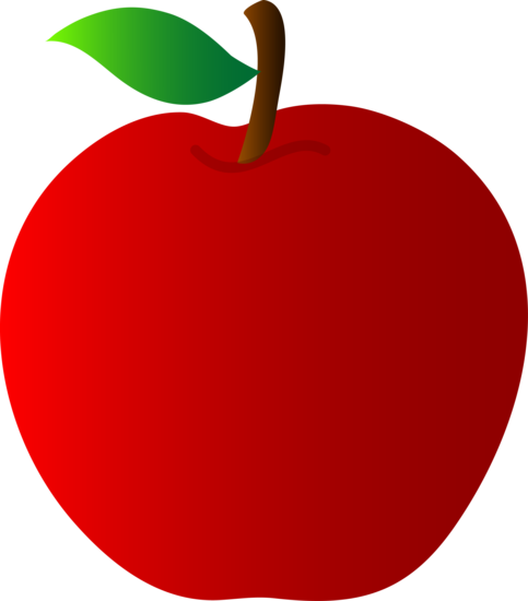 Healthy Bright Red Apple
