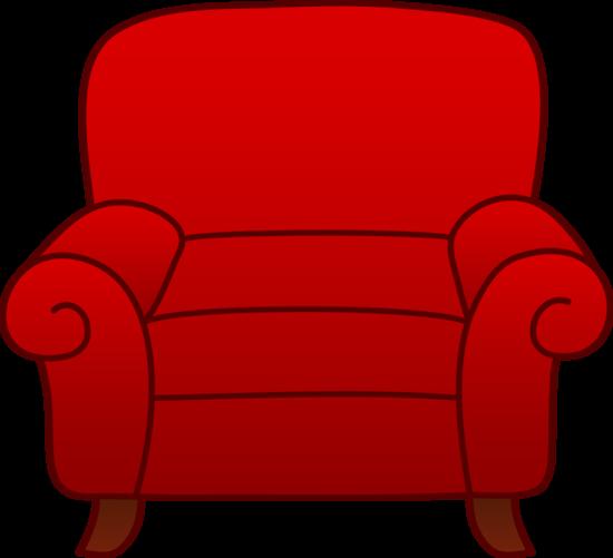 Red Armchair Clip Art