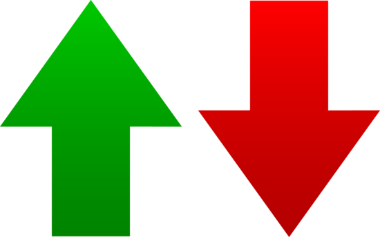 Green and Red Arrow Logos