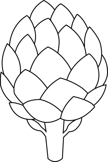 Artichoke Outline