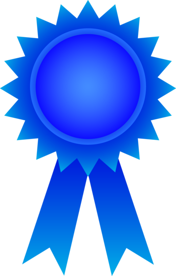 Blue Award Ribbon