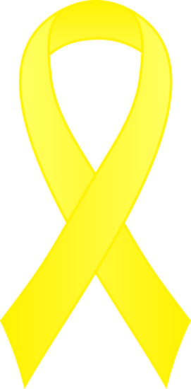 Yellow Awareness Ribbon Clip Art
