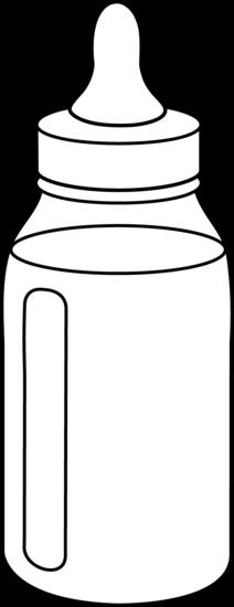 Baby Bottle Line Art - Free Clip Art