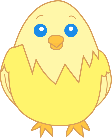 Cute Yellow Chick Clip Art