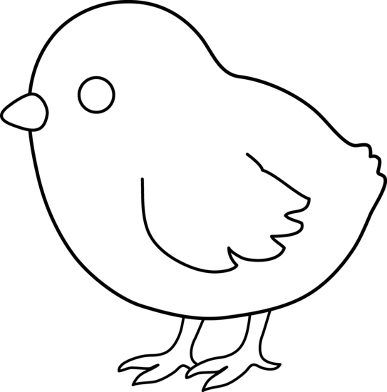 Cute Colorable Baby Chick Free