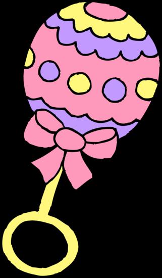 Pink Baby Girl Rattle
