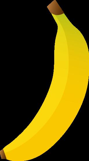 Single Bright Yellow Banana