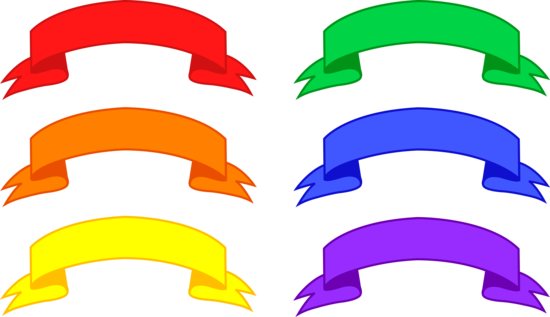 Six Colorful Banners