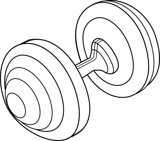 Barbell Line Art Design