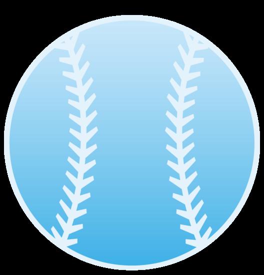 Blue Sports Baseball