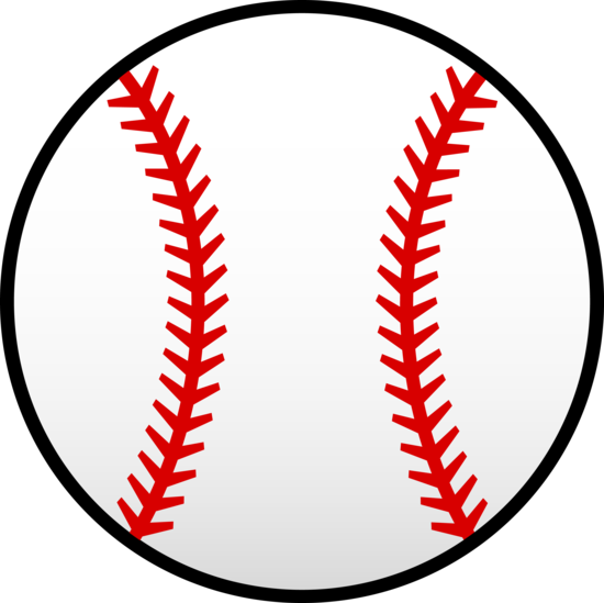 Simple White and Red Baseball