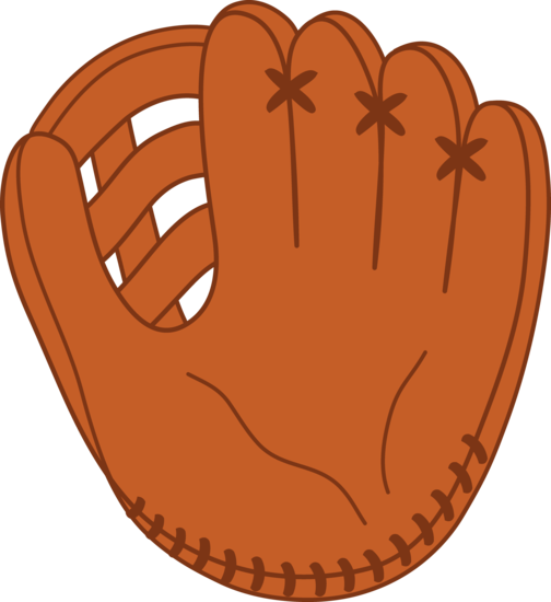 leather baseball mitt free clip art
