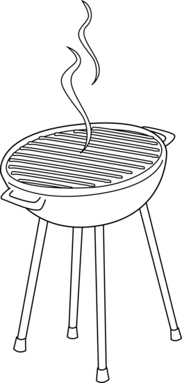 Barbeque Grill Line Art