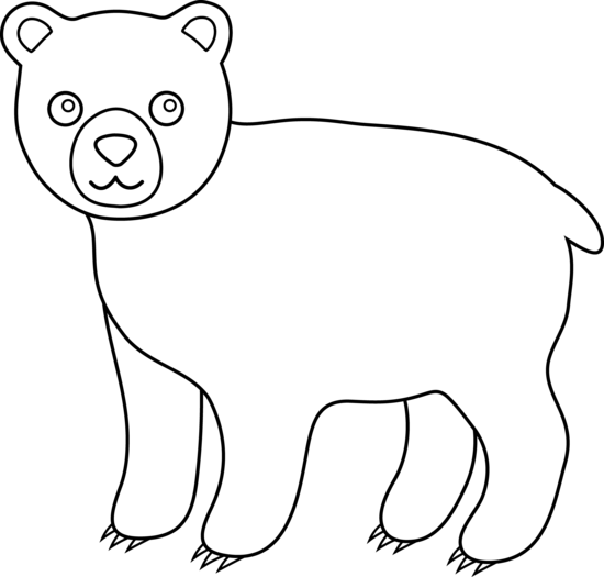 Cute Bear Line Art