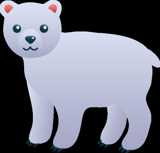 Cute Polar Bear Clip Art
