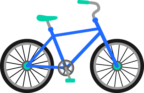 Blue and Green Bicycle