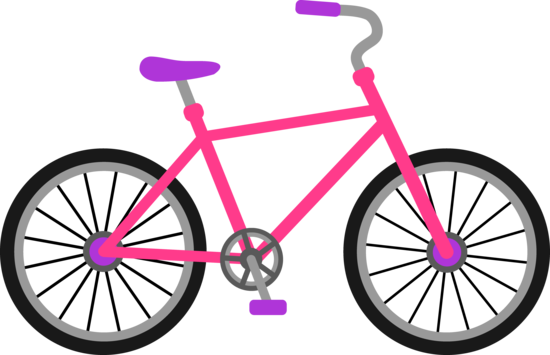 Pink and Purple Bicycle