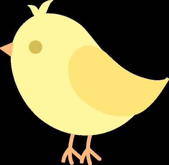Cute Yellow Spring Bird