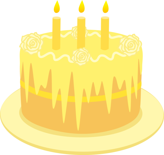 Yellow Lemon Birthday Cake