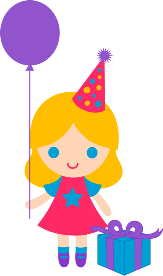 Cute Birthday Girl Clip Art