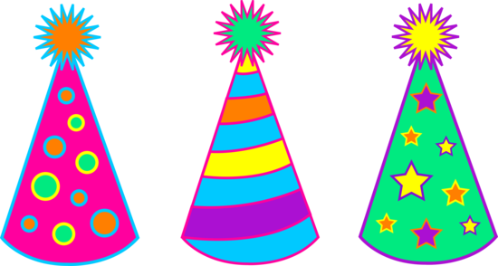 Set of Three Childrens Party Hats