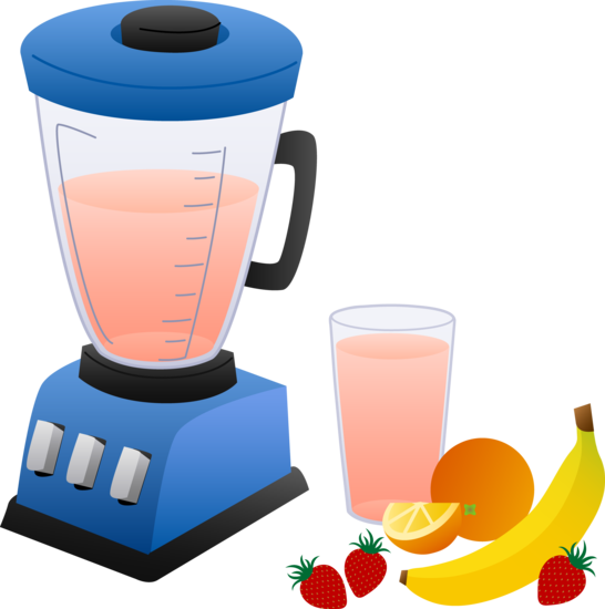 blender with fruits and smoothie   free clip art