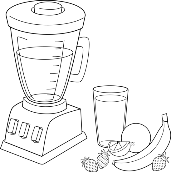Fruit Smoothies Coloring Page