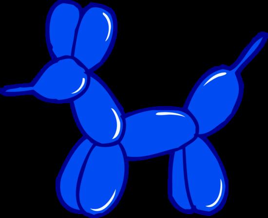 Blue Balloon Animal Clip Art