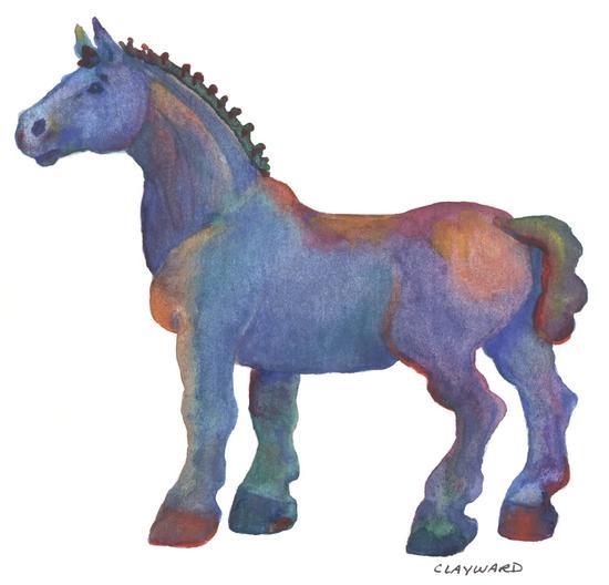 Blue Horse by ClayWard Studio