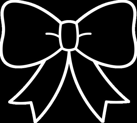 Cute Black Bow Silhouette